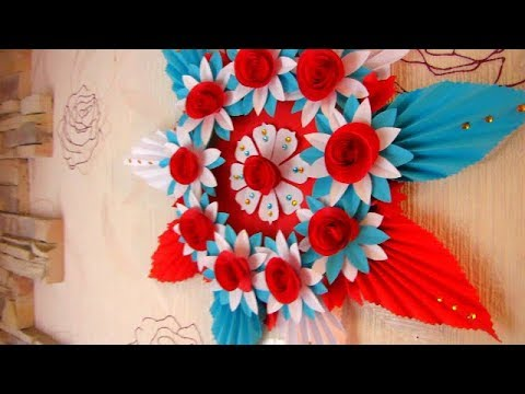 Simple Home Decor Wall Decoration 5 Hanging Flower Paper Craft Ideas