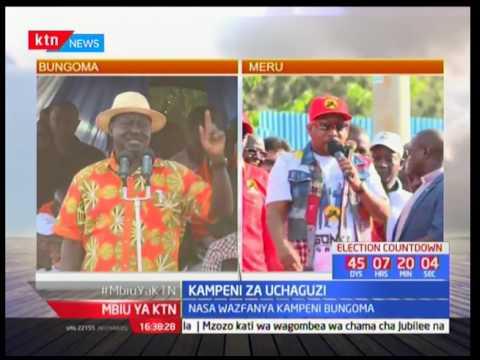 Raila Odinga aongoza kampeni za NASA-Bungoma Rais Uhuru Kenyatta akiwa maeneo ya Meru