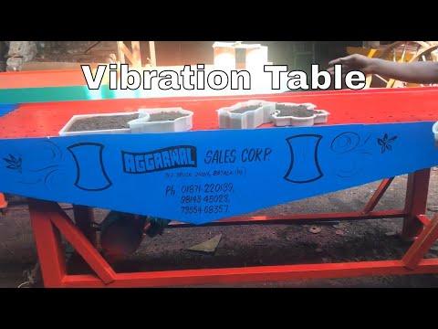 Vibration Table For Interocking Pavers Plant