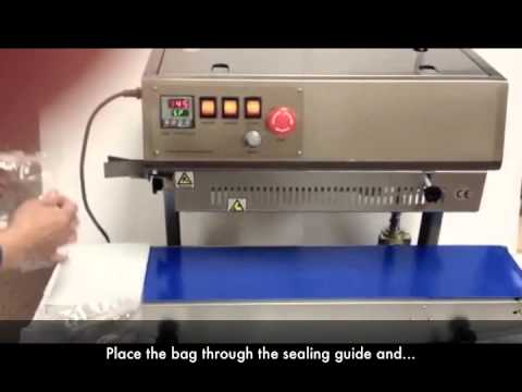 Sealer Sales FR-770II Vertical Continuous Band Sealer FR-770II Vertical Stainless Steel Band Sealer