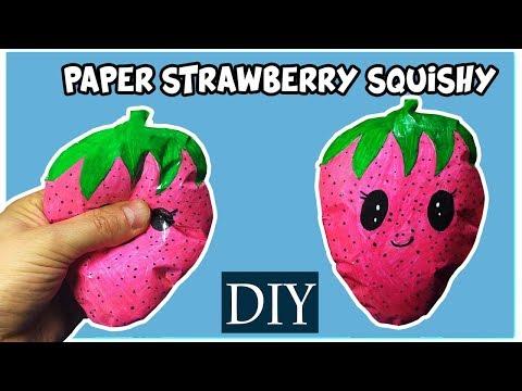 Kağıttan Sukuşi Yapımı - çilek squishy yapımı - Sukuşi - Skuşi - Nasıl Yapılır - OYUNCAK HEDİYE TV