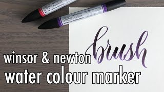 REVIEW: Winsor And Newton Water Colour Marker | YouTober Day 22