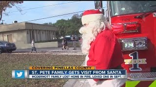 Santa Claus visits McDermott family after fatal fire