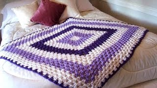 GRANNY SQUARE BLANKET, Any Size, How To Diy, Easy Baby Blanket, Pillow, Afghan, Bedspread, Throw