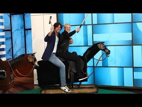 Ellen Faces Off Against Polo Star Nacho Figueras