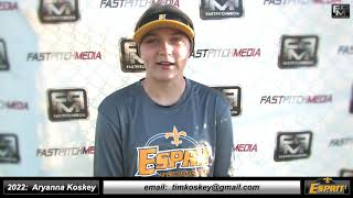 2022 Aryanna Koskey Middle Infield and Outfield Softball Skills Video - Esprit Fastpitch