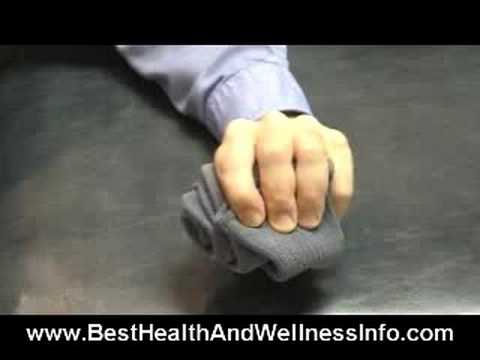 Screenshot of video: A great video demonstrating lots of hand exercises you can do at home and at school