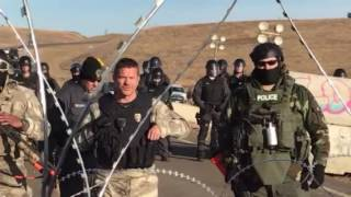 Tense standoff at Standing Rock after Semi Truck comes to clear bridge