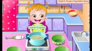 Детские Желто хочет помочь маме, чтобы подготовить ее едой  Так давайте повеселимся время на кухне!