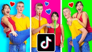 RECREATING VIRAL COUPLES TIK TOKS WITH MY CRUSH CHALLENGE    Funny TikTok Tricks by 123 GO!CHALLENGE