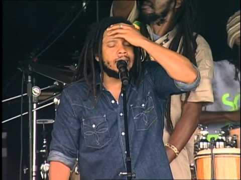 Stephen & Damian Marley - No Woman No Cry - 8/2/2008 - Newport Folk Festival (Official)