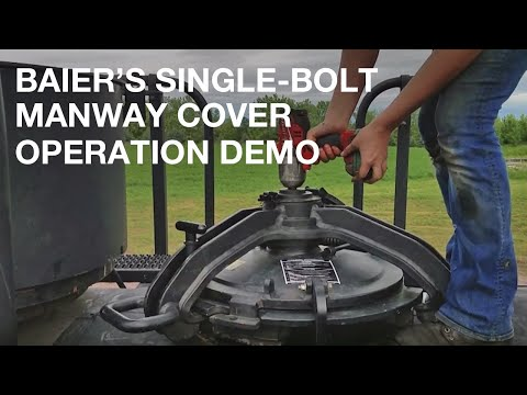 Baier Single Bolt Manway Cover Open/Close Operation