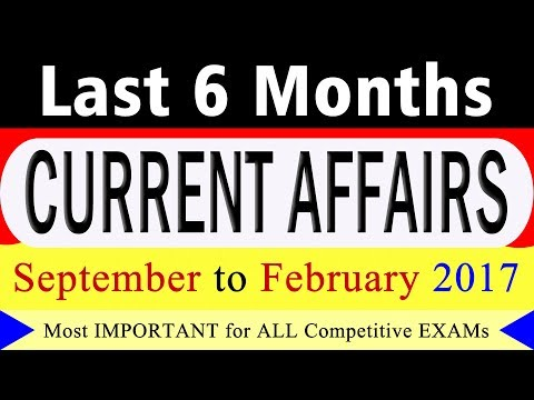 Last 6 Months Current Affairs Questions and Answers
