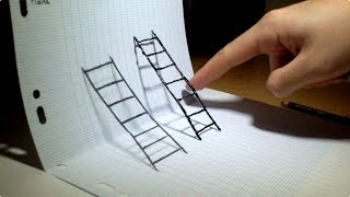 Optical Illusions Ecards, 4D and 3d anamorphic Ladder in this video How i..