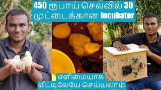 DIY Home made incubator Tamil | 450 ரூபாய் செலவில் 30 முட்டைக்கான இன்குபேட்டர் செய்வது எப்படி?
