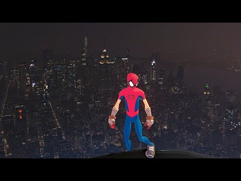 Spider-Man PS4 - Jumping Off Tallest Building In Spider Clan Suit (All Weathers) Best Outfit