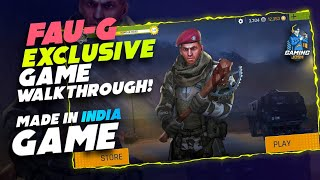 Made-in-India FAU-G Live Walkthrough | Gameplay, Settings and Everything | Gaming Josh