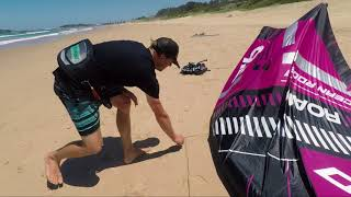 How to connect your Bar and Lines Upwind of your Kite. Kitesurfing setup Tutorial