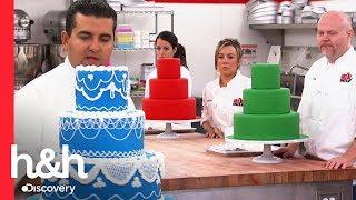 Buddy enseña cómo decorar un pastel con manga pastelera | El desafío de Buddy | Discovery H&H