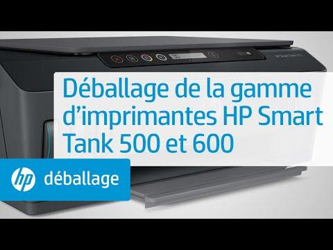 Déballage de la gamme d'imprimantes HP Smart Tank 500 et 600