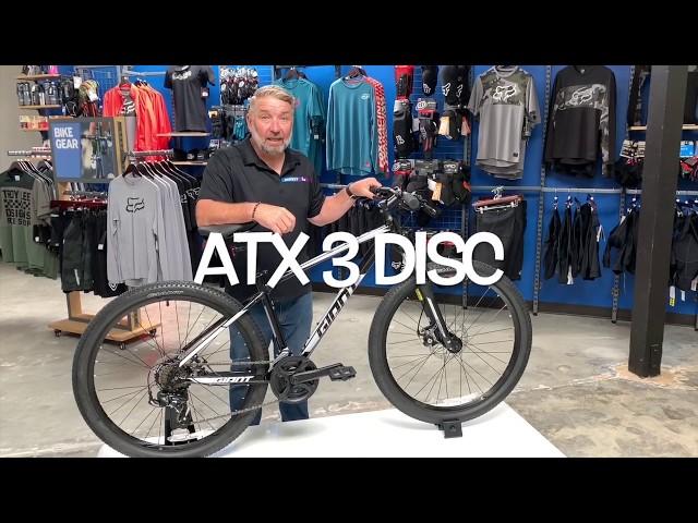 Видео Велосипед Giant ATX 3 Disc 27.5 GE Metallic Black/Grey