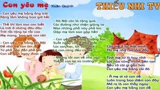 Bài thơ con yêu mẹ - bai tho con yeu me - Thiếu nhi tv