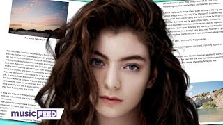 Lorde Reveals Why Shes Been Silent & New Music Is Coming!