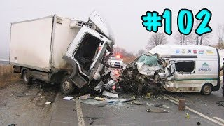 CAR CRASHES IN AMERICA. BAD DRIVERS USA AND CANADA | Crazy Drivers Car Crashes #102