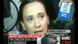 C5N MURIÓ NÉSTOR KIRCHNER HABLA GABRIELA MICHETTI