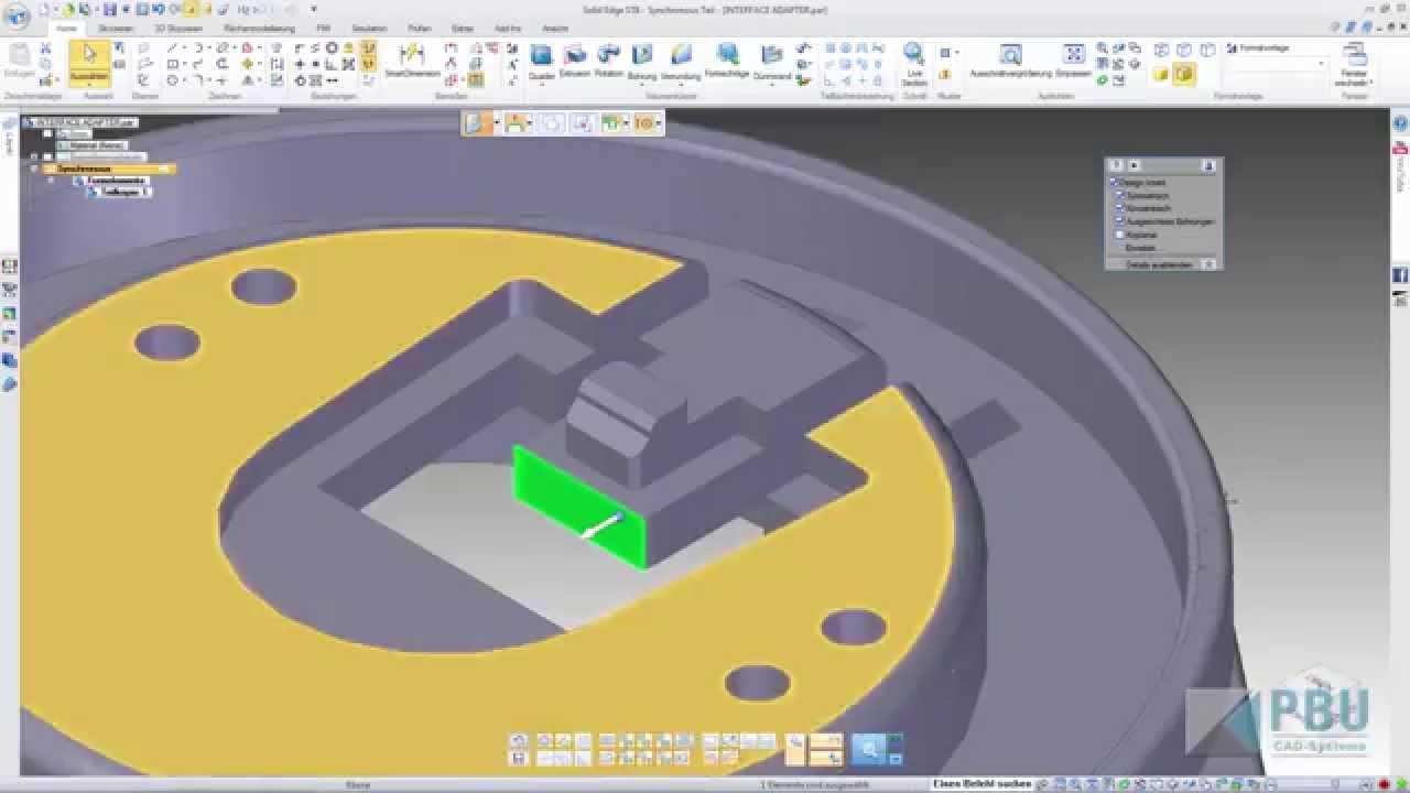 Vorschaubild: Solid Edge: Neues in ST8 – Synchronous leicht gemacht