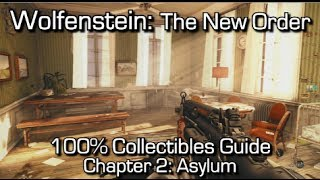 Wolfenstein: The New Order - Chapter 2 Collectibles - Asylum - Enigma Codes, Gold & Letters