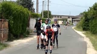 preview picture of video '6h Roller de Châteauroux 2014 - Passage avant virage à 90° (tout le monde))'