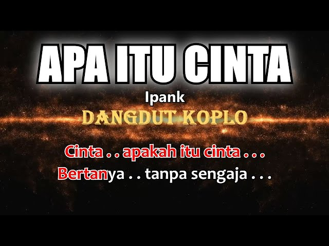 APAKAH ITU CINTA - Ipank - Karaoke dangdut koplo (COVER) KORG Pa3X