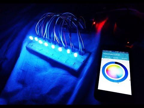 DIY LED Music Visualizer | Real-Time Animations (Arduino) - смотреть