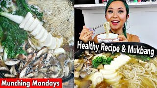 FOUR MUSHROOM SOUP RECIPE & MUKBANG // Munching Mondays Ep.15