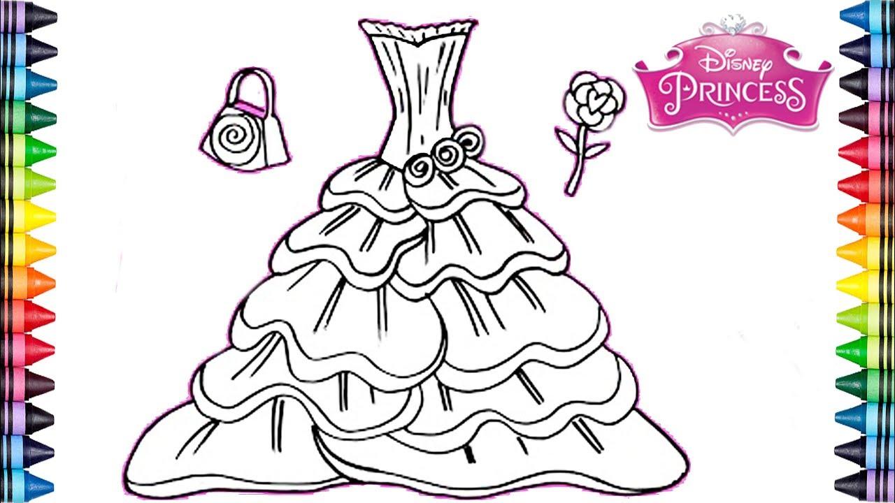 Video *Como dibujar y colorear un Vestido Arco Iris* Dibujos para niños