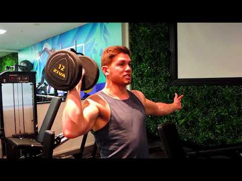 Standing Single Arm Shoulder Press
