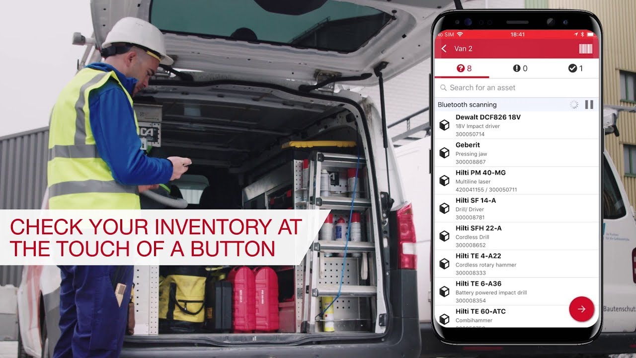 Bluetooth enabled equipment tracking - Hilti Great Britain
