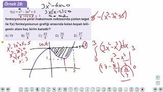 Eğitim Vadisi AYT Matematik 23.Föy İntegralde Alan 2 Konu Anlatım Videoları