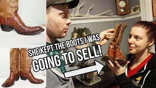 My Wife Kept The Womens Cowboy Boots I Was Going To Sell!!