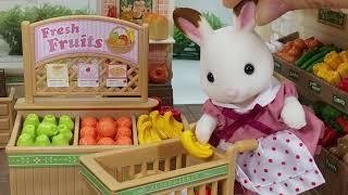 실바니안 패밀리 슈퍼마켓 마트놀이 가게놀이 소꿉놀이 뽀로로 인형놀이 장난감 Sylvanian Families Calico Critters Supermarket Play Toy