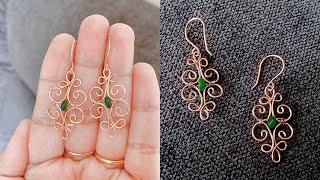 Wire Wrapped Earrings/making Beautiful Wire Earrings/handmade Earrings/diy Jewelry