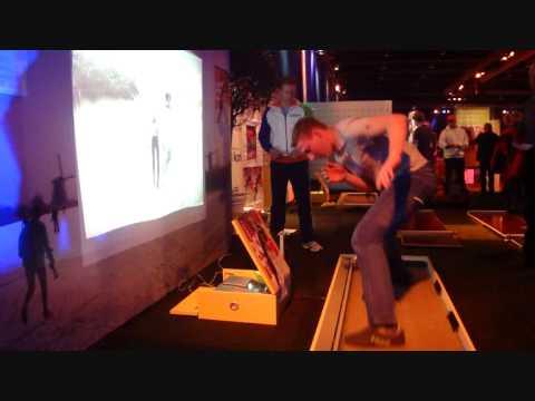 E-fit schaatsgame schaatssimulator Embedded Fitness op NK en WC schaatsen Heerenveen