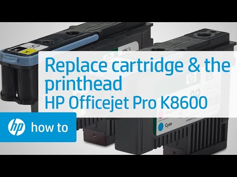 Replacing Cartridges and the Printhead - HP Officejet Pro K8600 Printer | HP OfficeJet | HP