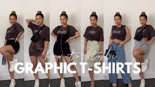 HOW TO STYLE AN OVERSIZED GRAPHIC T-SHIRT FT. PRINCESS POLLY