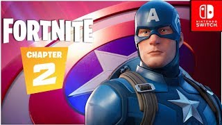 Fortnite Chapter 2 - CAPTAIN AMERICA Gameplay + Battle Royal with Viewers! (Nintendo Switch)