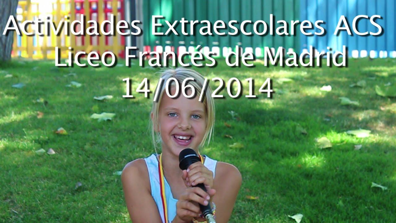 Actividades Extraescolares ACS - Liceo Francés de Madrid.