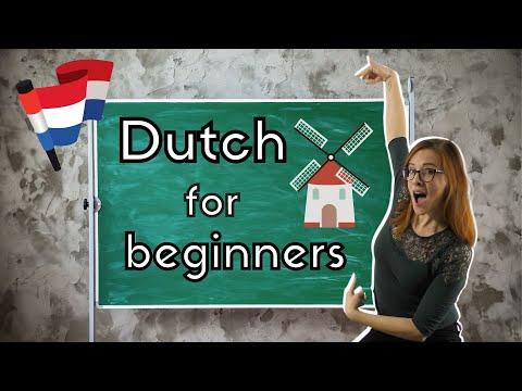 LEARN DUTCH FOR BEGINNERS // Nederlands voor beginners 😍 (Gratis NT2-cursus van A0 naar A1)