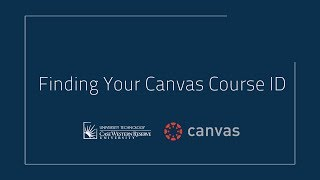 Finding Your Canvas Course ID