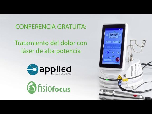 Conferencia gratuita: Tratamiento del dolor con láser de alta potencia. Actualización de conceptos y casos clínicos